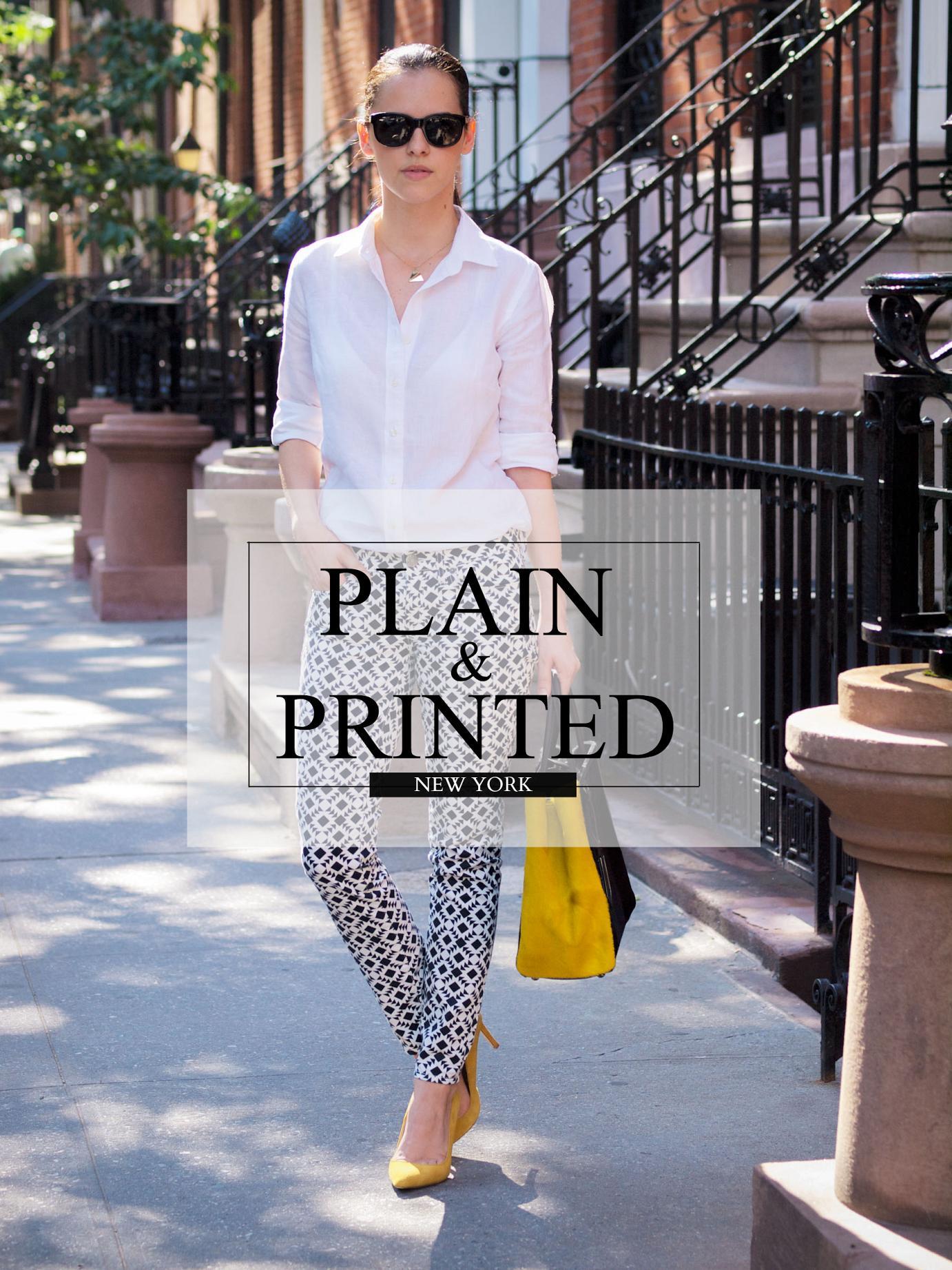 bittersweet colours, j. crew. Fendi bag, printed jeans, new york , street style